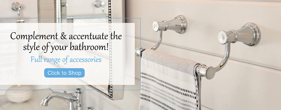 Complement and accentuate the style of your bathroom! Full range of accessories - Click to shop