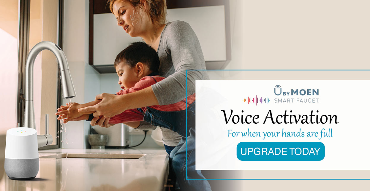 Moen Smart Faucet - Voice Activation - For when your hand are full. Upgrade Today