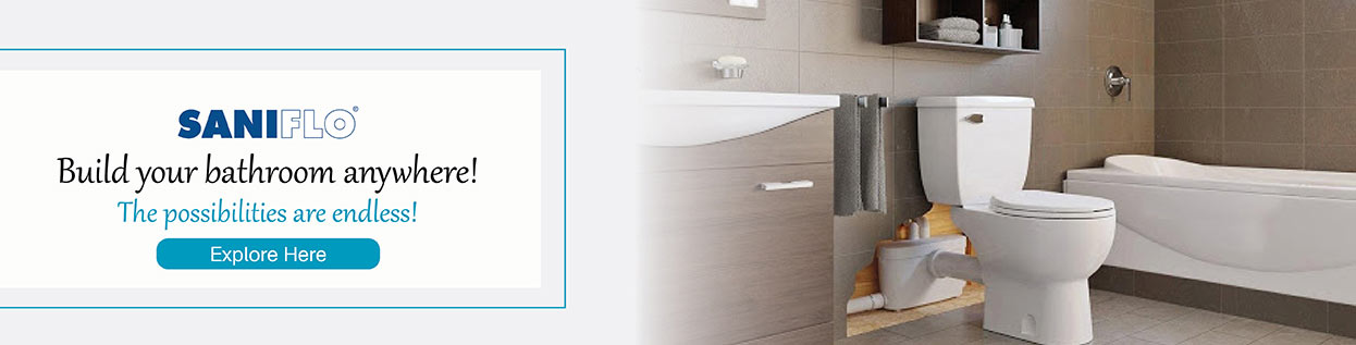 SaniFlo - Build your bathroom anywhere! The possibilities are endless! Explore Here