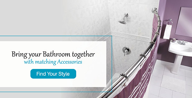 Bring your bathroom together with matching accessories. Find Your Style.