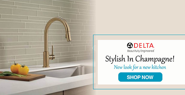 Delta - Stylish in Champagne - New look for a new kitchen - Shop Now