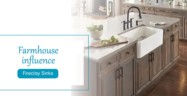 Farmhouse influence - Fireclay Sinks