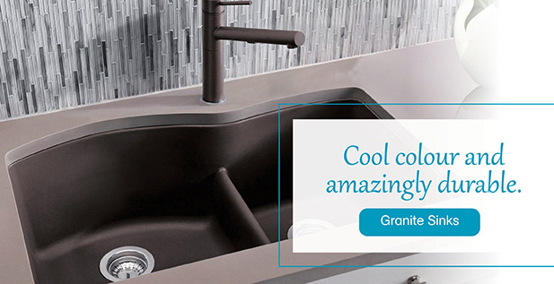 Cool colour and amazingly durable. Granite Sinks