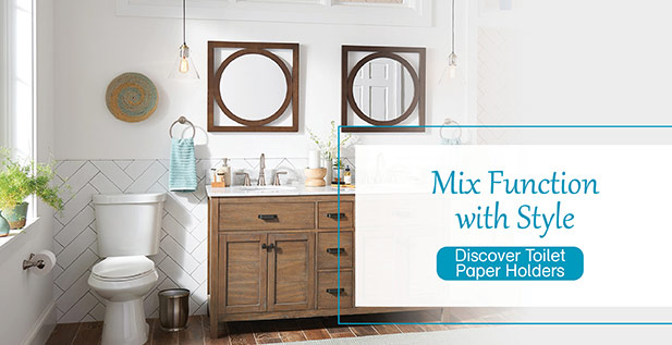 Mix Function with Style - Discover Toilet Paper Holders