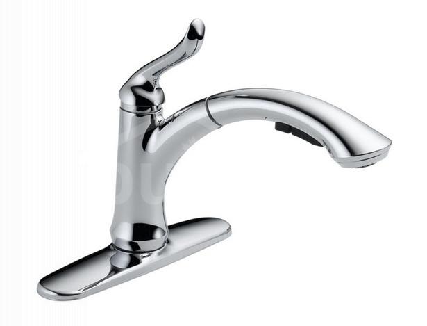 Linden single handle pullout kitchen faucet