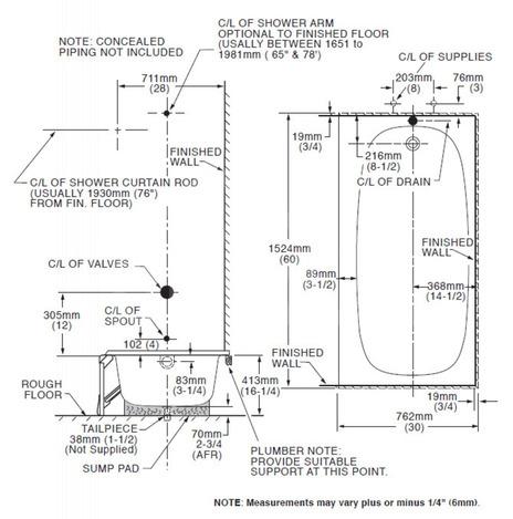 0182000 020 American Standard Colony Integral Apron Tub