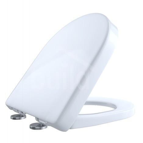 TOTO SS117#01 SoftClose D-Shape Front Toilet Seat Cotton No